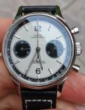 Ceas Sugess Panda Seagull Pilot Cronograf Mecanic ST 1901 safir 38 mm, Mecanic-Manual