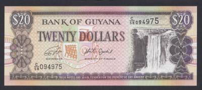 A3457 Guyana 20 dollars ND UNC foto
