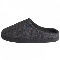 Papuci de casa barbati, din textil, s.Oliver, 5-17302-21-87-15, negru cu gri