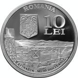 SV * Romania BNR 10 LEI 2007 * 150 ANI DE INDUSTRIE PETROLIERA * ARGINT * PROOF