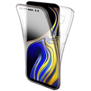 Husa 360 (fata+spate) silicon transparent pentru Samsung Note 9
