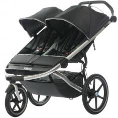 Carucior Sport pentru gemeni Thule Urban Glide 2 Dark Shadow, recomandat copiilor pana la 45 kg