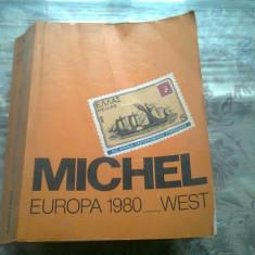 MICHEL EUROPA 1980_ WEST (CARTE FILATELIE,TEXT IN LIMBA GERMANA)