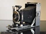 Camera /Aparat vechi de fotografiat cu burduf Voigtlander Bergheil Heliar c.1930