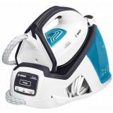 Statie de calcat Bosch TDS4050, 2400 W, Talpa Ceranium-Glissee, 5.5 bar, 1.3 l, 290 g/min, EasyComfort, i-Temp, Secure Lock, Alb/Albastru