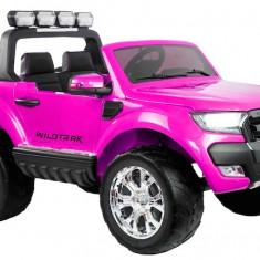 Masinuta electrica Ford Ranger 4x4, roz cu mov