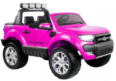 Masinuta electrica Ford Ranger 4x4, roz cu mov foto