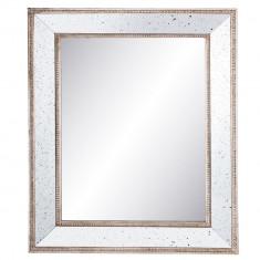 Oglinda decorativa perete argintiu vintage 40x4x50 cm