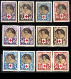 1945 LP165 serie Crucea Rosie (perechi) MNH, Organizatii internationale, Nestampilat