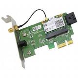 Placa retea wireless, o antena, slot PCI-E X1, low profile pentru SFF, diverse modele, second hand, Intel