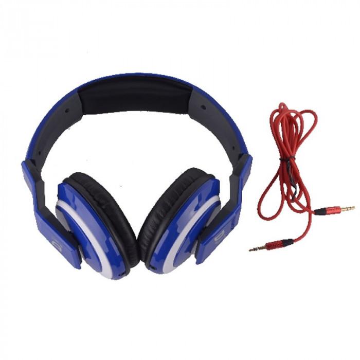 Casti stereo tip DJ 5899, albastre
