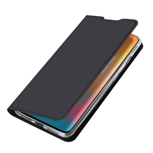 Husa carte flip wallet Dux Ducis pentru OnePlus 6T, gri