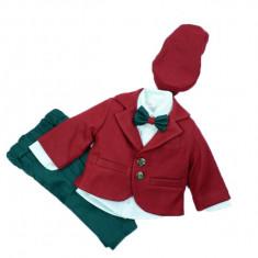 Costum elegant baieti Colibri 2035-RO, Rosu