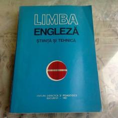 LIMBA ENGLEZA. STIINTA SI TEHNICA