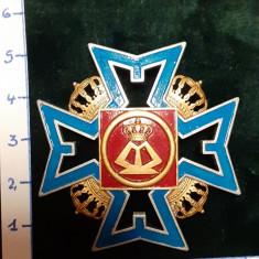 Insigna 7-ani REGIMENT 4 ROSIORI Regina Maria ; reproductie Regalista