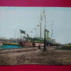 Constanta atipica 24x17 cm Vaporul Dacia in port, Necirculata, Printata