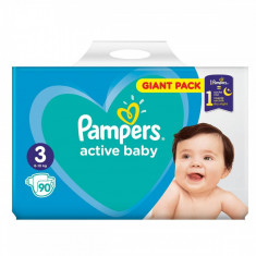 Scutece PAMPERS Active Baby 3 Giant Pack 90 buc
