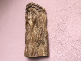 Capul lui Isus,sculptura veche  in lemn