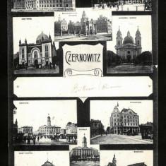 Carte Postala Veche Circulata 1913 LITHO BUKOWINA Bucovina Cernauti Czernowitz, Fotografie