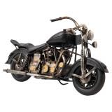 Macheta motocicleta retro metal neagra 35x13x20 cm Elegant DecoLux