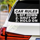 Car Rules  -Stickere Auto-Cod:ESV-118 -Dim  20 cm. x 10.6 cm.
