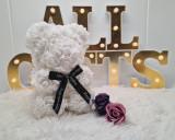 Cumpara ieftin Ursulet de trandafiri 25cm Alb