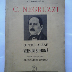 OPERE ALESE * VERSURI SI PROZA (1941) - C. NEGRUZZI