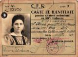Legitimatie CFR anii 40, carnet de identitate pentru calatorii CFR, permis CFR
