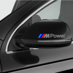 Sticker auto oglinda BMW ///M Power (2 buc.)