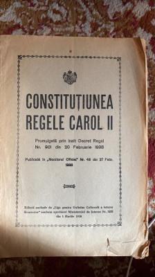 constitutiunea regele carol al II lea,promulgata prin inalt decret regal,nr.901 foto