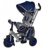 Cumpara ieftin Tricicleta cu sezut reversibil Sunrise Turbo Trike Dark Blue, Baby Mix