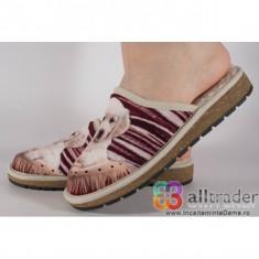 Papuci de casa visinii din plus cu talpa cu memorie dama/dame/femei (cod 191054)