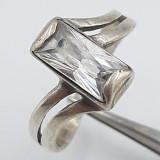 Superb inel vintage din argint, model deosebit !