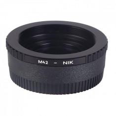 K&F Concept M42-Nikon adaptor montura cu sticla optica de la M42 la Nikon