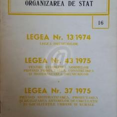 Legislatie privind organizarea de stat