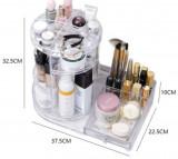 Set suport rotativ + organizator cosmetice, bijuterii