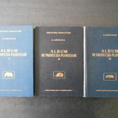 A. SAVESCU - ALBUM DE PROTECTIA PLANTELOR  3 volume