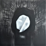 """Abstract painting-""""a bored statue"""", Acrilic, Suprarealism"""
