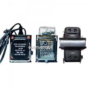 Transformator 220V 110V Convertor Tensiune cu Buton si Cablu 220V 500W