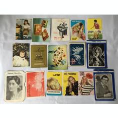 Lot 16 calendare de buzunar anul 1985, colectie, vintage