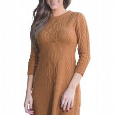 A565-8 Rochie scurta, casual, stil pulover tricotat