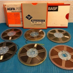 Banda Magnetofon AGFA rola policarb.26cm-Clasic-(Akai,Teac,Tascam,Revox,BASF)
