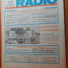 revista tele-radio saptamana 18-24 iulie 1982