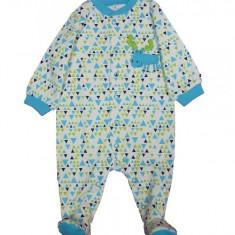 Salopeta / Pijama bebe cu triunghiuri Z83, 1-3 luni, 12-18 luni, 3-6 luni, 6-9 luni, 9-12 luni, Multicolor