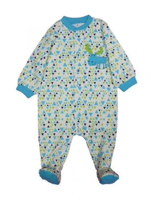 Salopeta / Pijama bebe cu triunghiuri Z83 foto