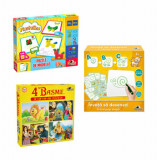Cumpara ieftin Pachet promo Creatie - Plastelino Puzzle de modelat + Puzzle 4 Basme + Invata sa desenezi, Noriel