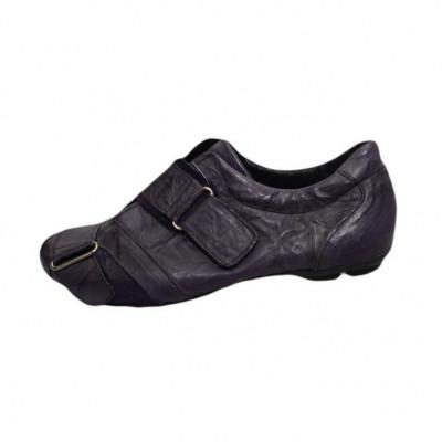 Pantof sport, nuanta de mov, piele naturala, aspect creponat foto