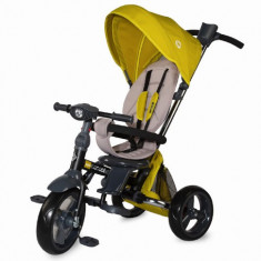 Tricicleta Multifunctionala 4in1 cu Sezut Reversibil Velo Galben, Coccolle