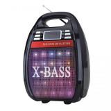 Boxa portabila karaoke X-Bass Golon, 2000 W PMPO, acumulator, telecomanda, General