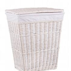 Cos rufe alb din rattan Licia 45x34x52h